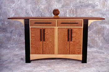Cabinet with straight legs
