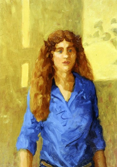 Woman in Blue Blouse