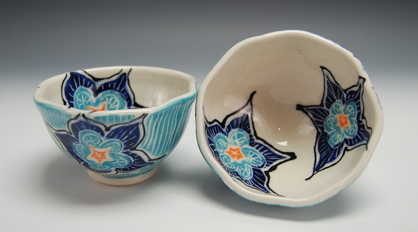 Small Bowls with Flowers