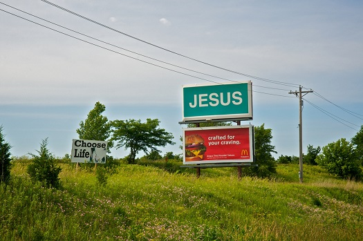 Jesus, Crafted for Your Craving, Highway 218, near Mount Pleasant, Iowa