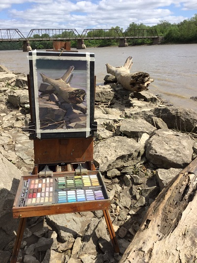 </i>A photograph of <i>Sunbather</i> on location at the Des Moines River.<i>