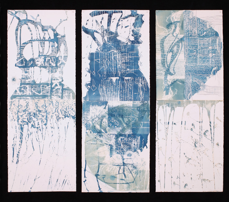 Kyoto Calligraphy Triptych 3