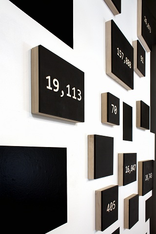Abstract Numbers of a Revolution</i>, installation at the Staging Gallery, UIowa<i>